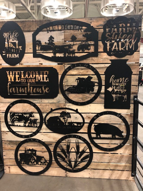 """Farm Style"" Metal Signs  Image Gallery"